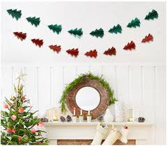 Paper Flower Christmas Tree 10 Three Dimensional Glitter Paper Flower Christmas Tree Strings