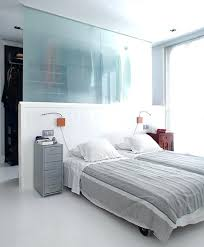walk in closet behind bed glass divider open design walk in closet spare bedroom