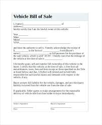 Vehicle Sale Receipt Template Vehicle Sales Receipt Template Used Or Automobile Bill On