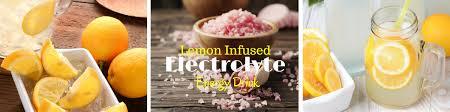 lemon infused electrolyte drink