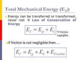 total mechanical energy et