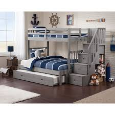 10 Best Nursery Images On Pinterest Twin Over Full Bunk Bed With Trundle And Stairs with