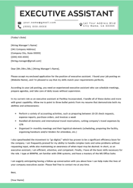 Administrative Cover Letter Example Administrative Assistant Cover Letter Example Tips