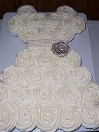 Bridal Shower Wedding Dress Cupcakes Wedding ideas
