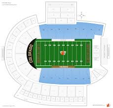 Folsom Field Seating Chart With Row And Seat Numbers Folsom Field Seating Chart With Seat Numbers Elcho Table