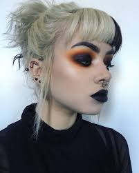 black and orange makeup makeup orangemakeup