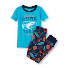 boys sleepwear the children s place off  boys short sleeve block island surf team shark top and rad surfer