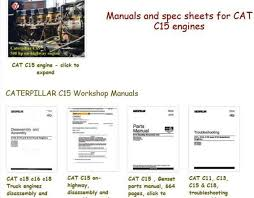 Caterpillar C15 engine specs and bolt torques