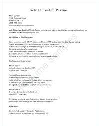 Tester Resume Samples Testing Resume Sample Digiart