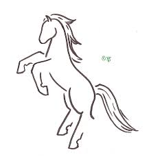 rearing horse drawing step by step. Plain Drawing Rearing Horse Tattoo By RuneElf  With Drawing Step By T