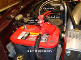 battery and alternator wire upgrade ford truck enthusiasts forums 17 cable finished passengerside jpg views 17894 size 427 8