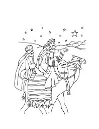 Small Picture The journey of the three wise men coloring pages Hellokidscom