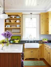 yellow country kitchens. Image Of: Yellow Kitchens With White Cabinets Country