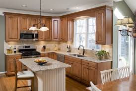 Medium Oak Kitchen Cabinets Kitchen Style Elegant Farmhouse Style White Glass Framed Cabinets