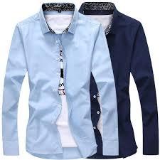 Buy <b>2018 autumn</b> Korean version of the self-cultivation <b>men's shirt</b> ...