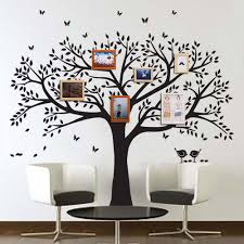 anber family tree wall decals erflies and birds wall decals vinyl wall decals photo frame tree stickers living room home decor wall sticker home decor