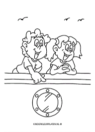 Kleurplaat Varen Schip Boot Algemeen