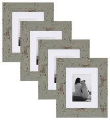 nor photo frame set teal 8x10 matted to 5x7 farmhouse picture frames by uniek inc
