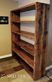 reclaimed wood shelving custom built