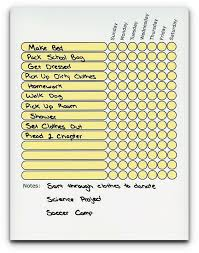 Teen Adult Chore Chart Use As Dry Erase Board Daily