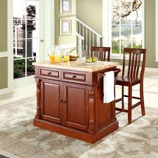 Crosley Furniture Kitchen Cart Crosley Furniture Butcher Block Top Kitchen Island In Cherry