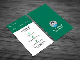 business card tamplate free whatsapp themed business card template