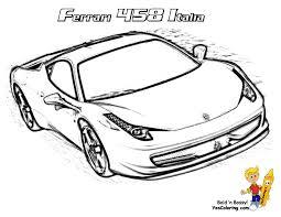 Ferrari Colouring Pictures With Ferrari Laferrari Coloring Page