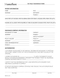 Montefiore Doctors Note Fillable Online Montefiore No Fault Insurance Form Montefiore