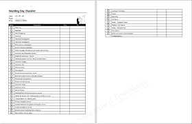 templates for to do lists microsoft word wedding day tasks template
