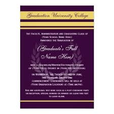Formal College Graduation Announcements Formal College Graduation Announcements Purple Zazzle Com