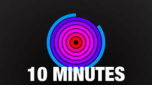 1 Minute Countdown A Colourful Ten Minute Counter Where The Hoops Slowly Wipe