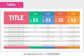 Creative Table Chart Table Chart Images Stock Photos Vectors Shutterstock