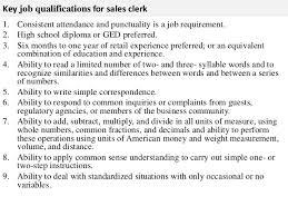3 key job qualifications for sales clerk sales clerk jobs
