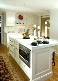 Microwave Drawer In Island Kitchen With  L Shaped A57