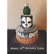Call of Duty Ghost Birthday Cake