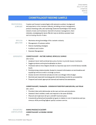 Perfect Resume Cosmetologist Gift Documentation Template Example