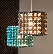 easter egg carton craft ideas reuse homemade hanging lamp light effects