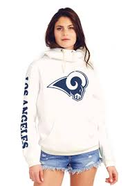 Los Women's Hooded Angeles Cowl Rams Sweatshirt Neck