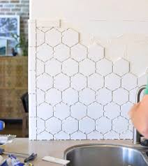 Tile Backsplash Install Amazing How To Install A Backsplash The Budget Decorator