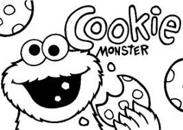 Small Picture Cookie Monster Coloring Pages Coloring4Freecom