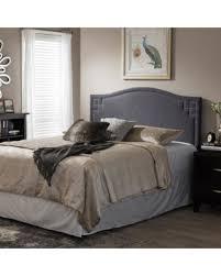 modern upholstered beds.  Modern Laurel Creek Payton Modern Fabric Upholsterd Headboard King  Greyish  Beige Inside Upholstered Beds T