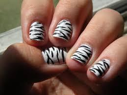 Zebra Print Nail Art | Easy Nail Art