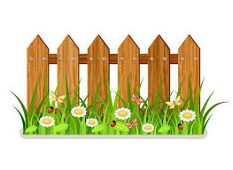 fences clip art. Interesting Art Wooden Fence With Grass And Flowers To Fences Clip Art E