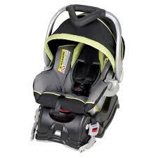 ez flex loc car seat front view black and light green