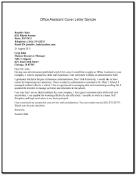Free Sample Cover Letter For Office Assistant Cover Letter