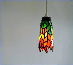 stained glass hanging light full image for lamp hardware shades patterns ceiling fixture stained glass