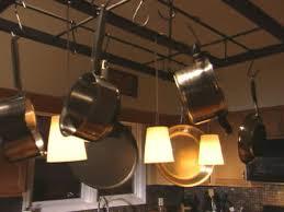 build a hanging pot rack