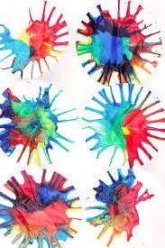 Science Art: Rainbow Spin Mixing - Babble Dabble Do