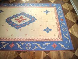 painted floor rugs faux oriental rug and checkerboard dining room detail 3 canvas area