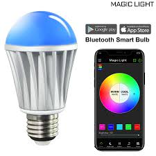 MagicLight Bluetooth Original Color Smart A19 Light Bulb, 60W ...